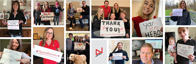 Photos of Avfuel employees who are #ThankfulForTheFrontLine