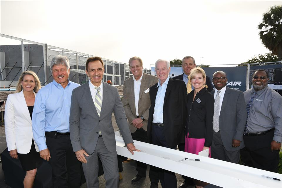Sheltair Aviation Reaches Construction Milestone on New